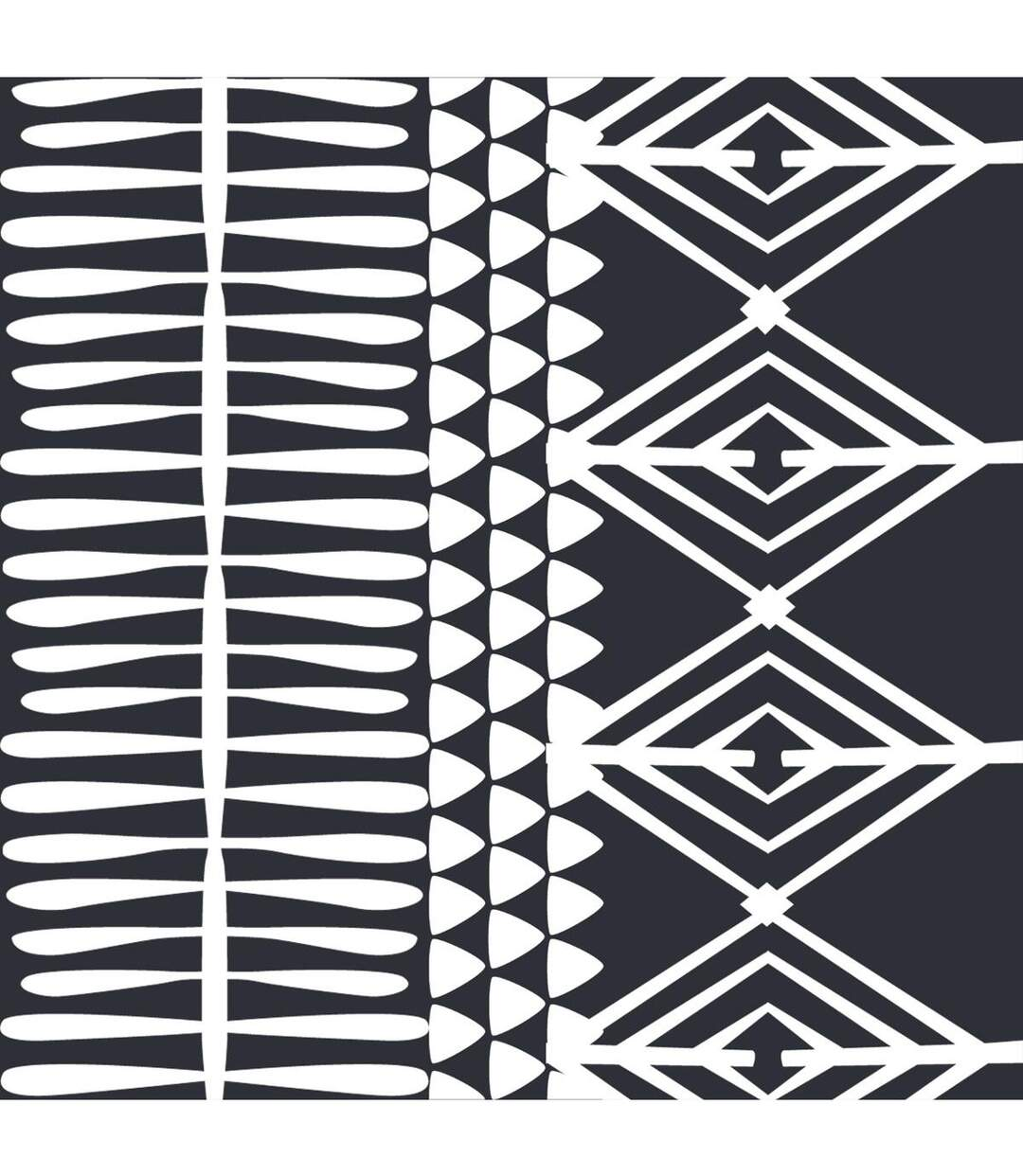 Atmosphera - Parure de lit 2 Personnes 240 x 220 cm Housse de couette avec 2 taies Imprimé Rayure Noir et Blanc