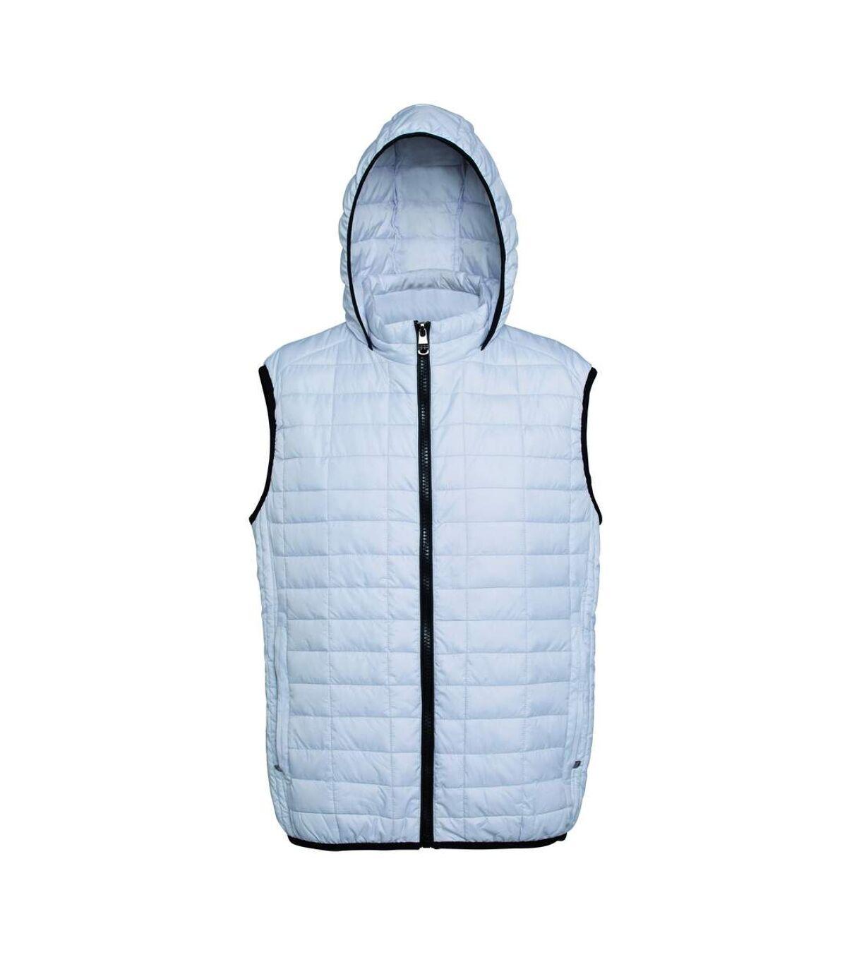 2786 Mens Honeycomb Zip Up Hooded Gilet/Bodywarmer (Black) - UTRW5261