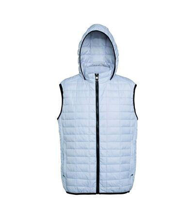 2786 Mens Honeycomb Zip Up Hooded Gilet/Bodywarmer (White) - UTRW5261