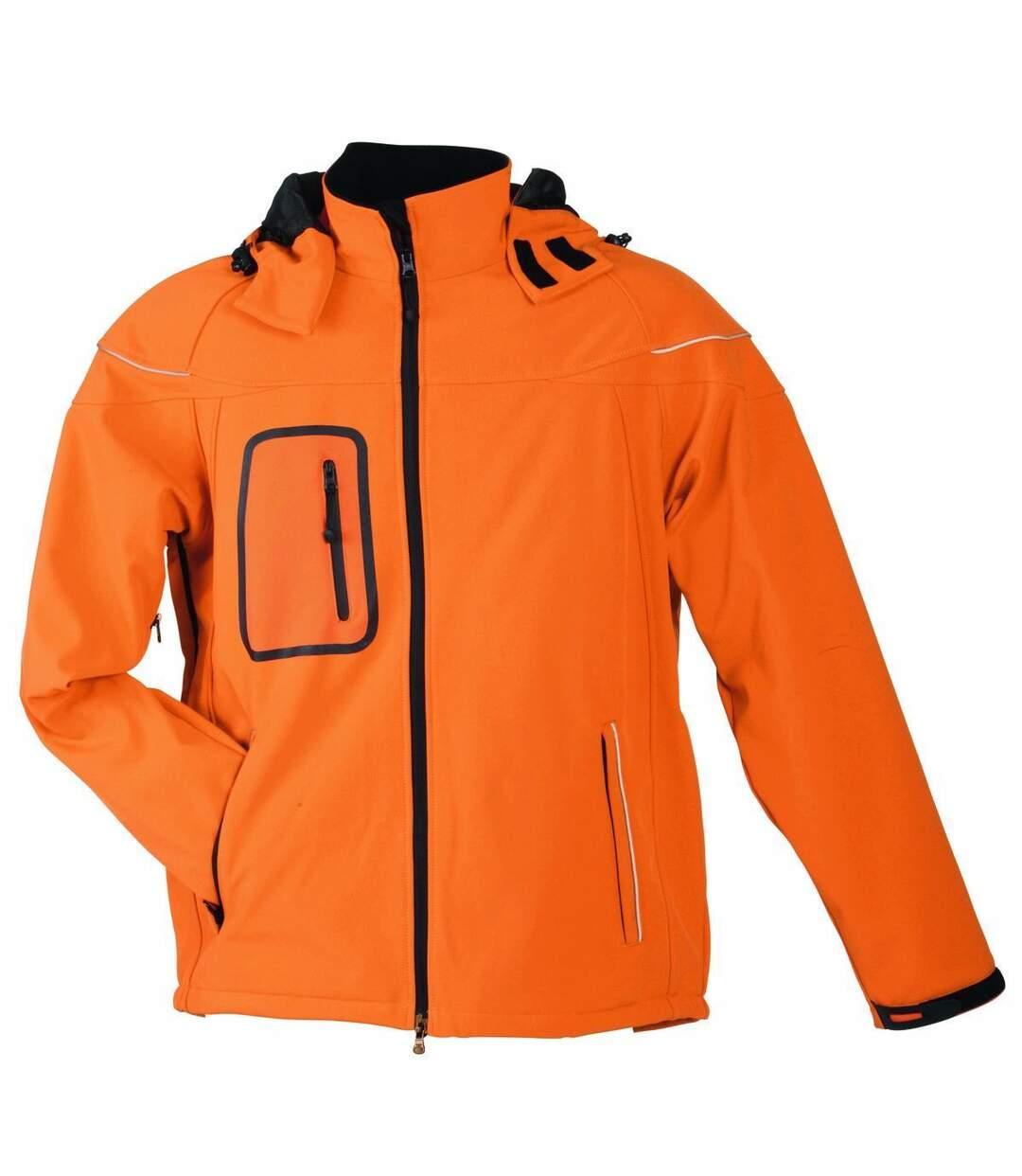 Veste softshell hiver Homme - JN1000 - Orange