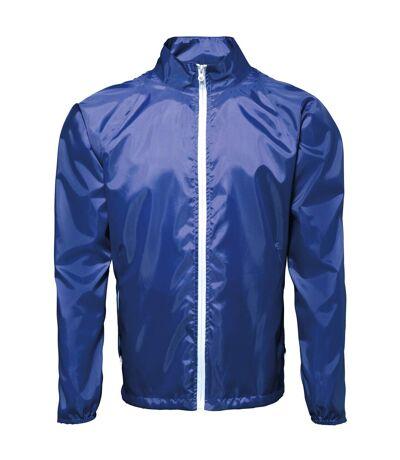 2786 - Veste de pluie légère - Homme (Bleu marine/Blanc) - UTRW2501