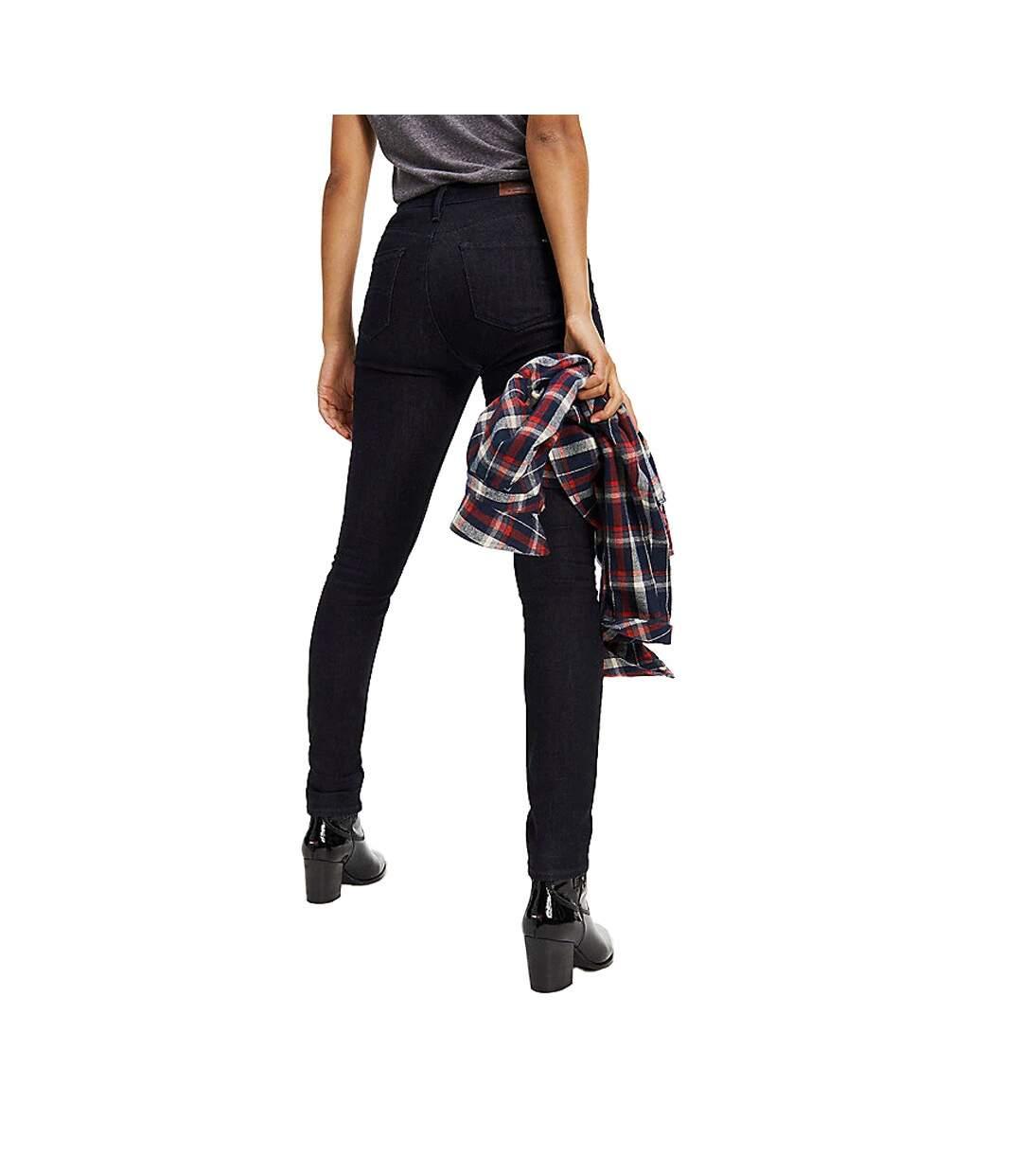 Jeans Taille Haute Skinny Marine Femme Tommy Hilfiger SAN