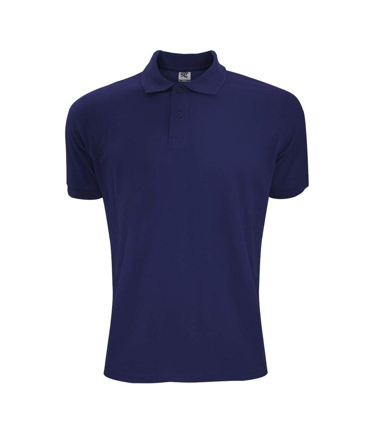SG Mens Polycotton Short Sleeve Polo Shirt (Navy Blue) - UTBC1084