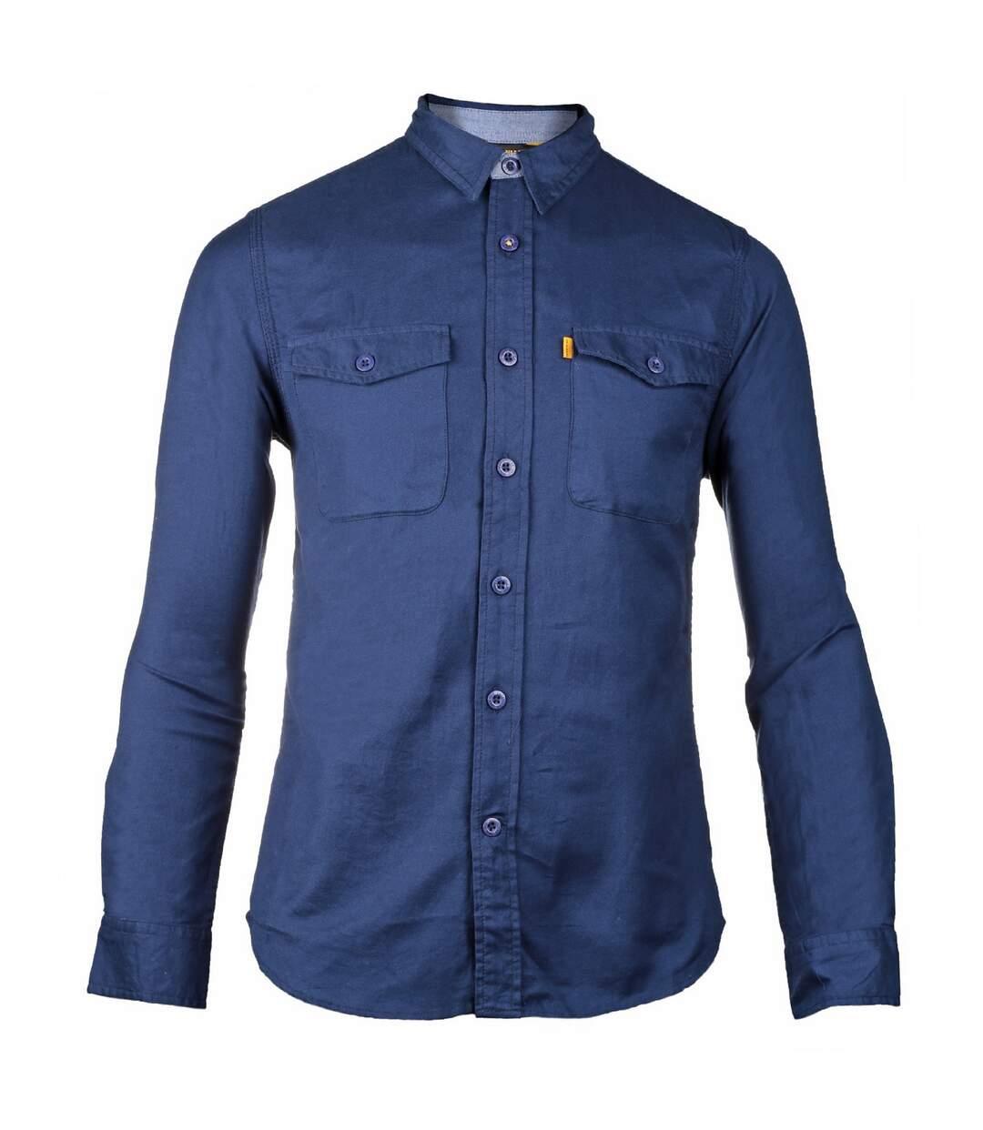 CAT Lifestyle Mens Tango Long Sleeve Shirt (Blue) - UTFS4042