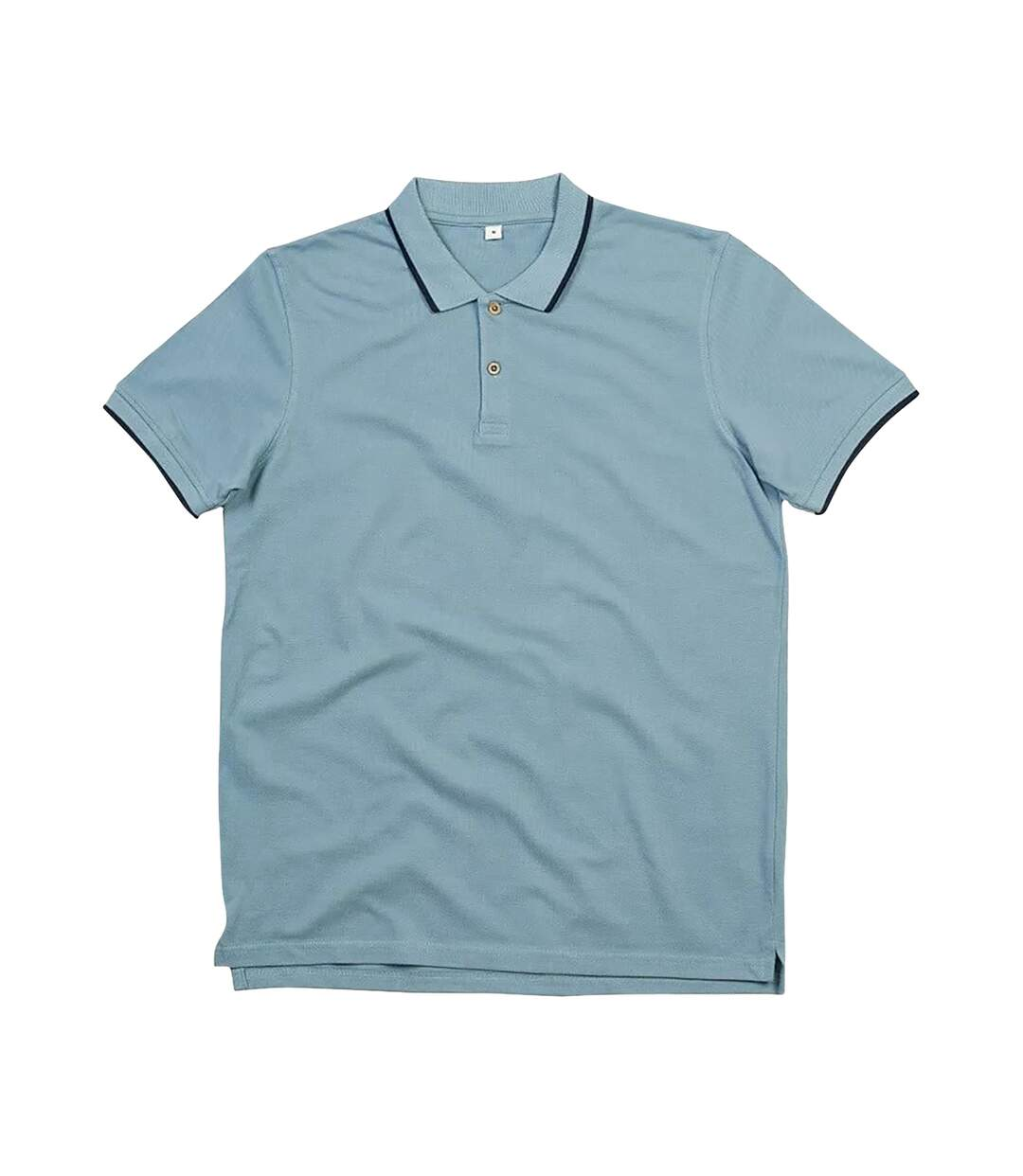 Mantis Mens The Tipped Polo Shirt (Light Denim/Navy) - UTPC3672