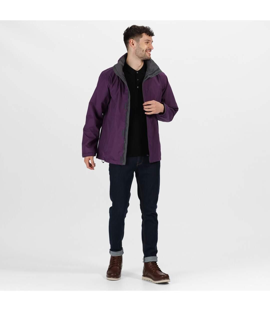 Regatta Mens Standout Ardmore Jacket (Waterproof & Windproof) (Majestic Purple/Seal Grey) - UTBC3041
