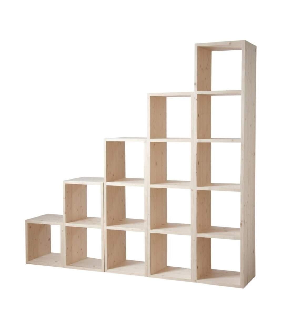 Etagère modulable 4 cases en épicéa 4 cases