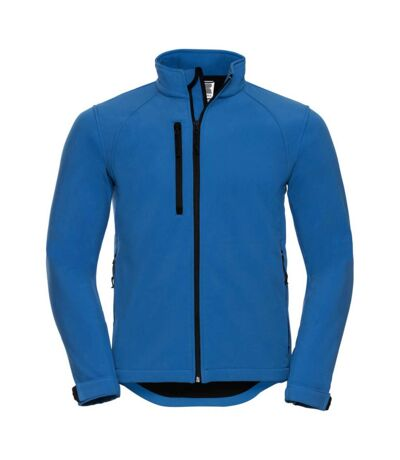 Russell Mens Water Resistant & Windproof Softshell Jacket (Azure Blue) - UTBC562