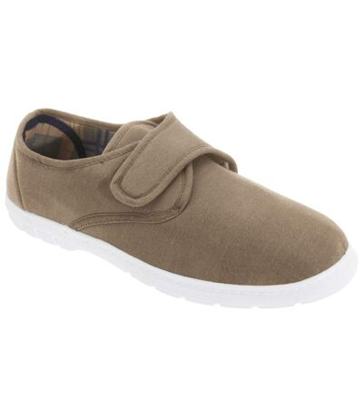 Scimitar Mens Touch Fastening Casual Textile Shoes (Taupe) - UTDF610