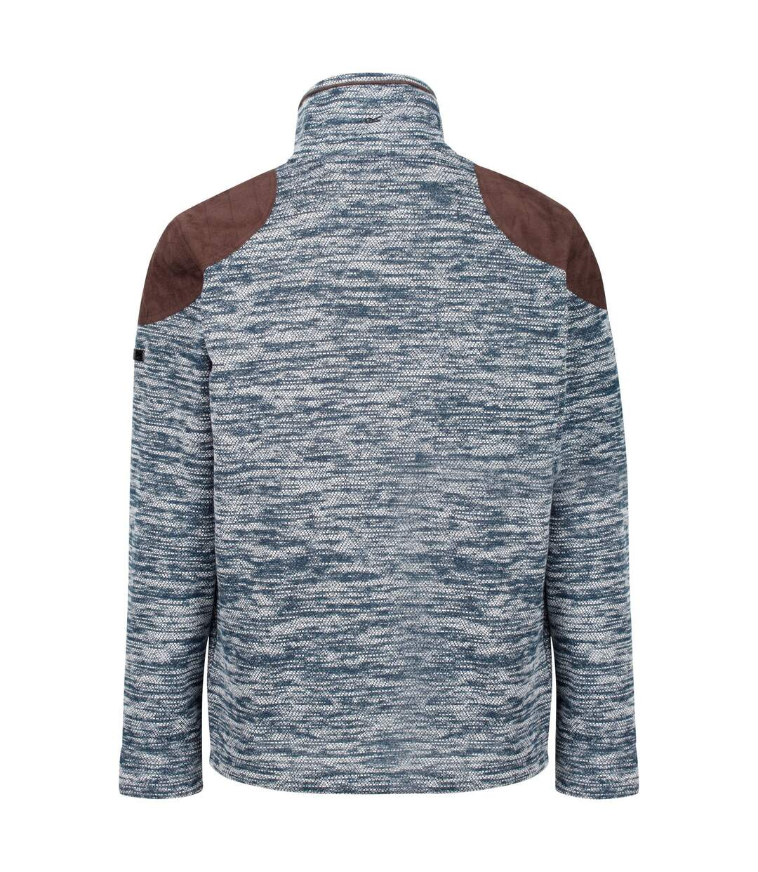 Regatta Mens Cranston Overlay Jaquard Fleece (Blue Wing) - UTRG4796