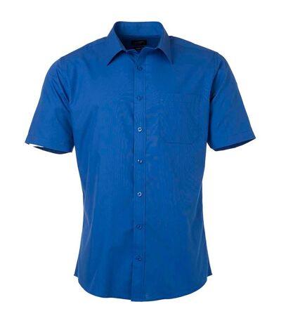 chemise popeline manches courtes - JN680 - homme - bleu roi
