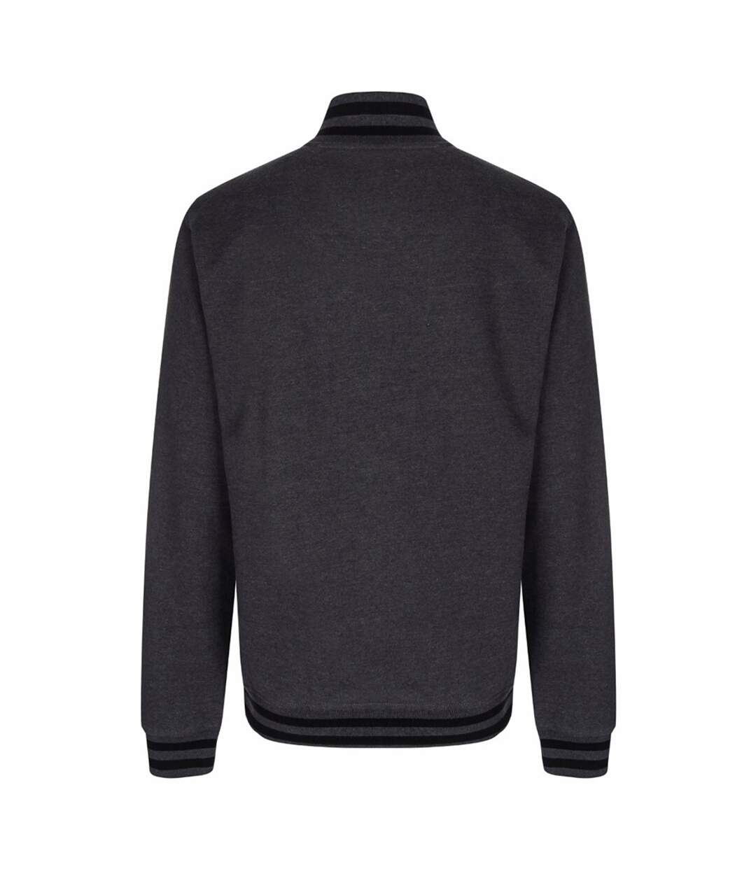 FDM Unisex Campus Varsity Jacket (Charcoal/Black) - UTBC3182