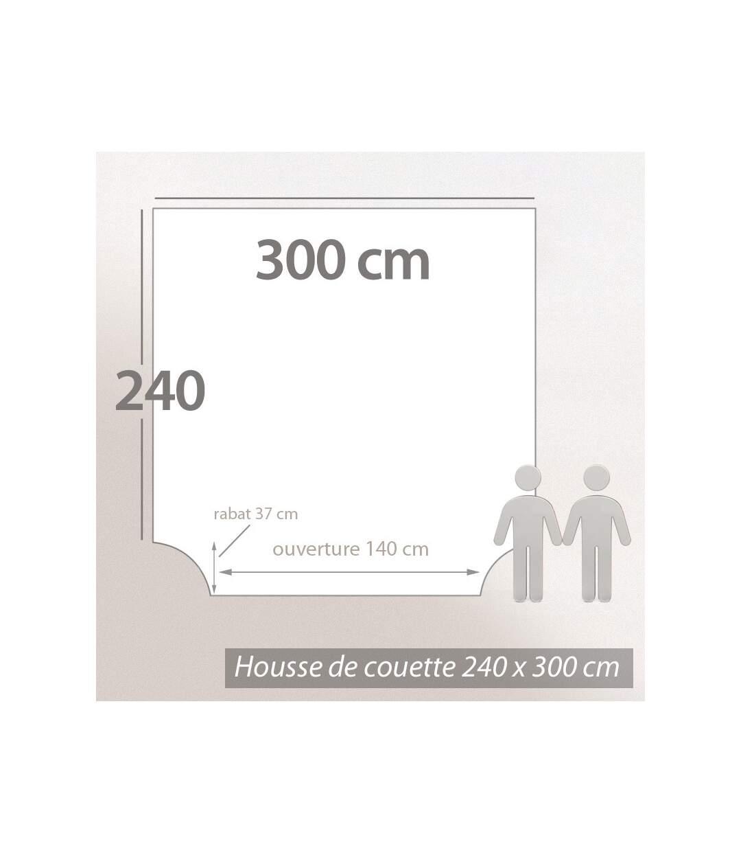Parure de lit 300x240 cm Percale pur coton GINKGO Rose 3 pièces