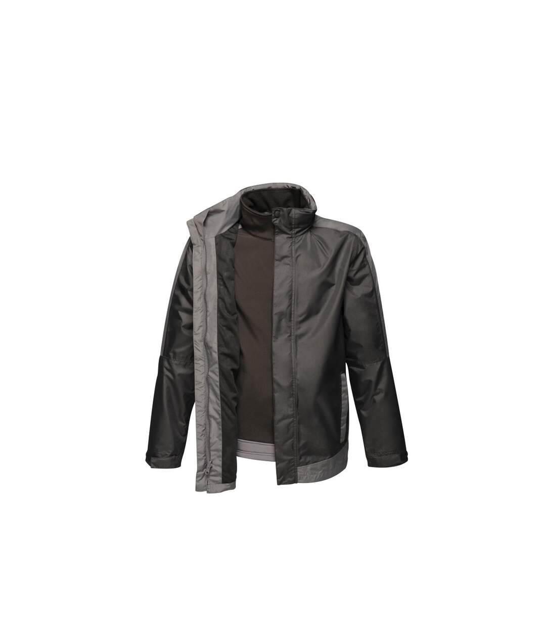 Regatta Mens Contrast 3 In 1 Jacket (Black/Seal Grey) - UTRG4095