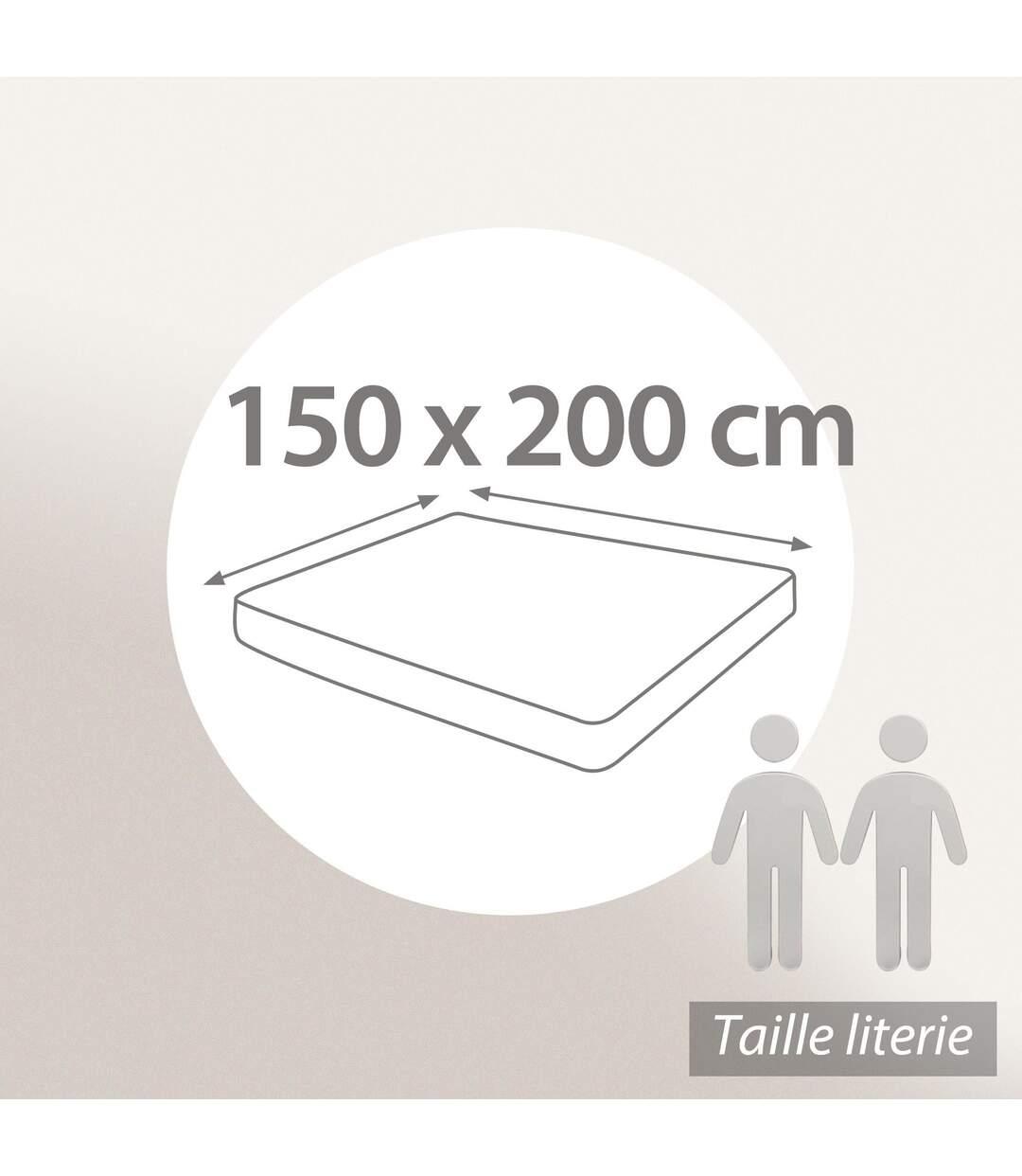 Protège matelas 150x200 cm ACHUA Molleton 100% coton 400 g/m2 bonnet 50cm