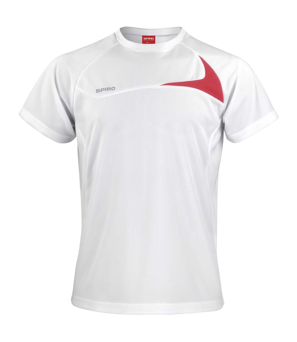Spiro Mens Sports Dash Performance Training Shirt (Aqua/Grey) - UTRW1476