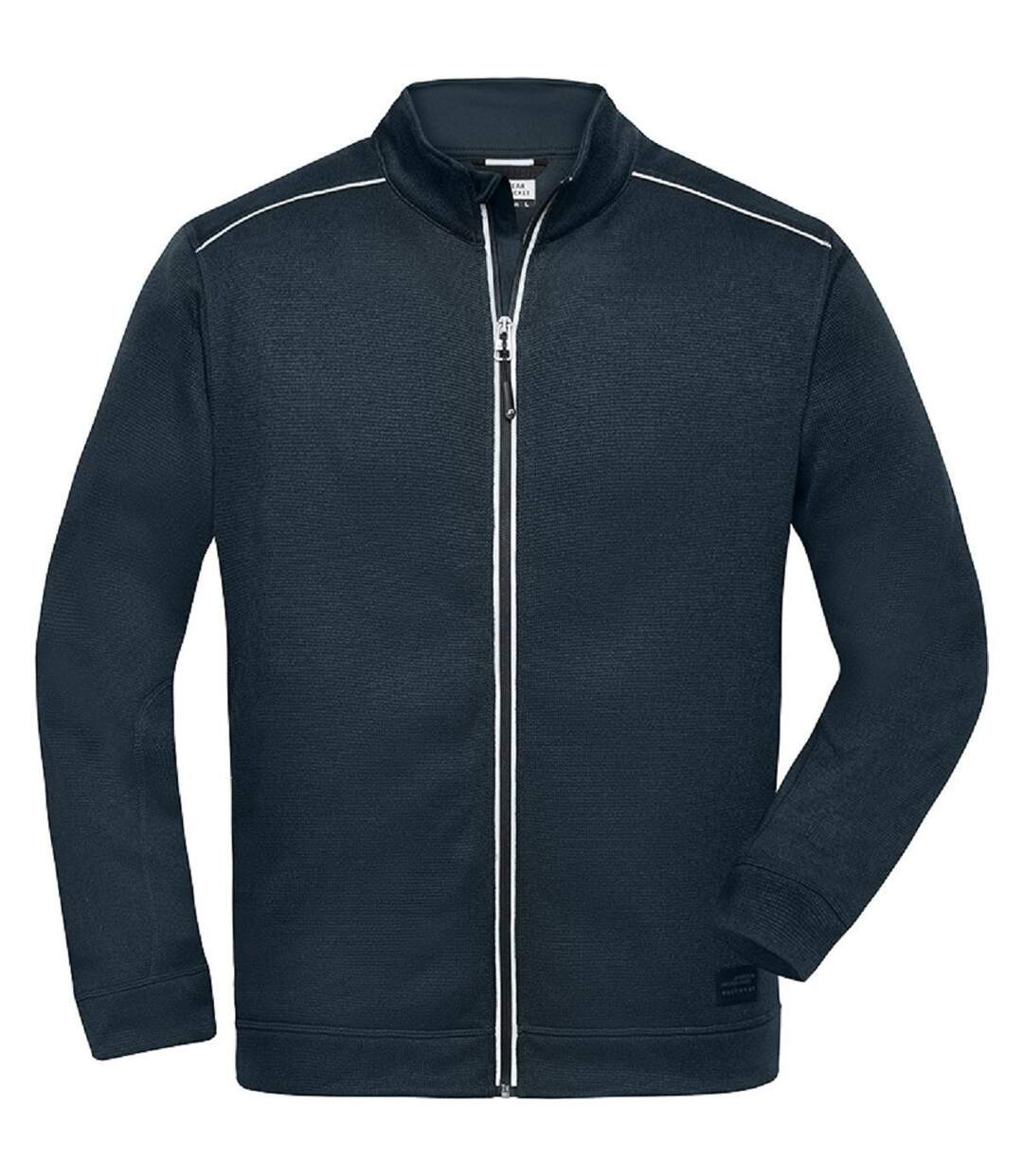 Veste zippée polaire workwear GRANDES TAILLES - homme - JN898C - bleu marine