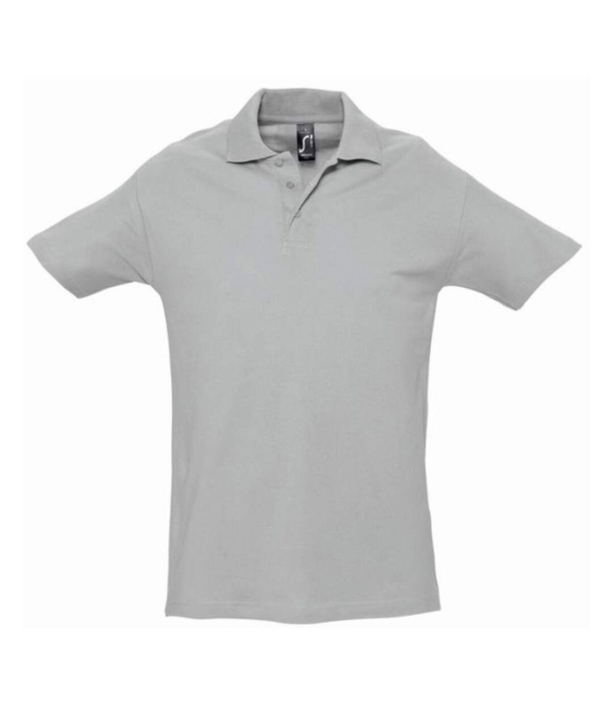 SOLS Mens Spring II Short Sleeve Heavyweight Polo Shirt (Grey Marl) - UTPC320