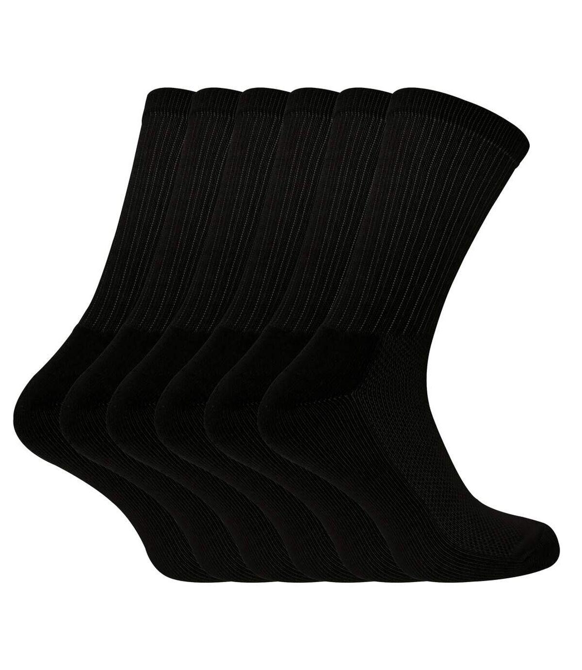 6 Pk Mens Bamboo Organic Cotton Sports Socks