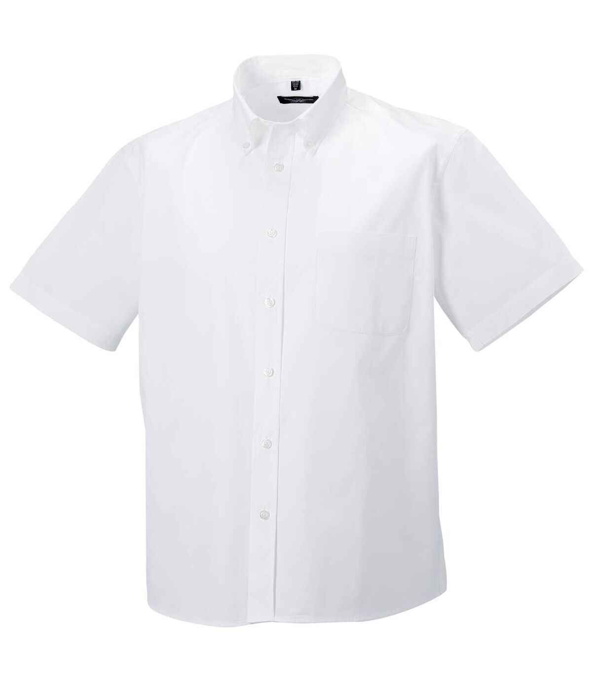 Russell Collection Mens Short Sleeve Classic Twill Shirt (White) - UTRW3258