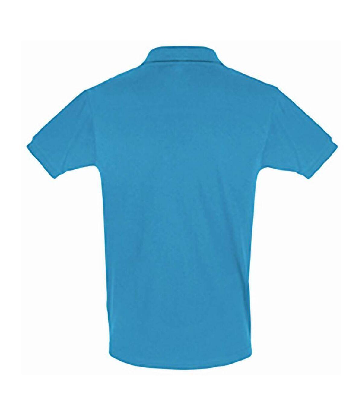 SOLS Mens Perfect Pique Short Sleeve Polo Shirt (Aqua) - UTPC283
