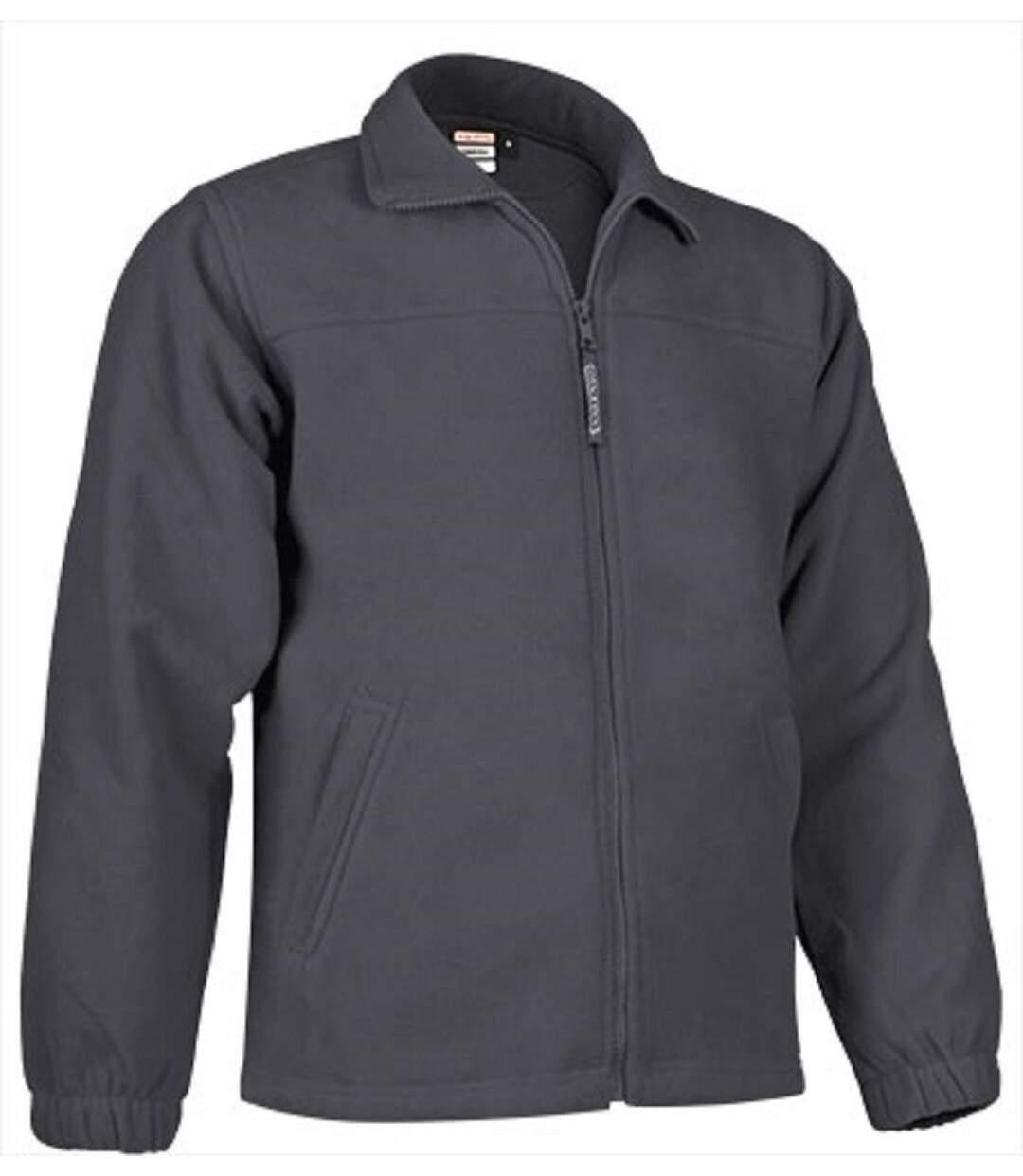 Veste polaire zippée - Homme - REF DAKOTA - gris charbon