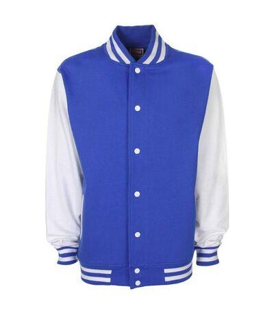 Veste style université américaine FV001 - bleu roi et blanc - mixte homme femme