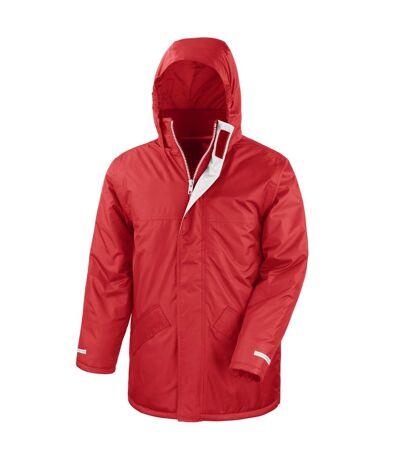 Result Mens Core Winter Parka Waterproof Windproof Jacket (Bottle Green) - UTBC901