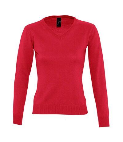 SOLS Womens/Ladies Galaxy V Neck Sweater (Red) - UTPC401