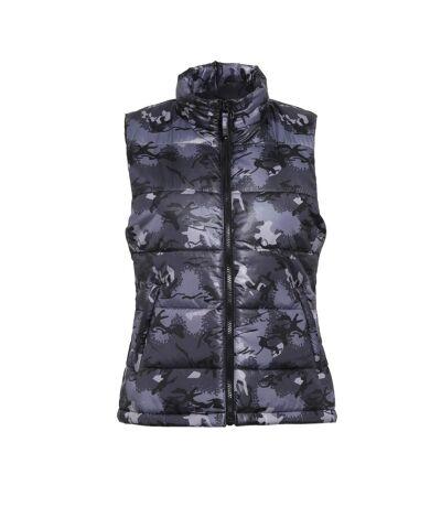 2786 Womens/Ladies Padded Bodywarmer/Gilet Jacket (Camo Grey) - UTRW3423
