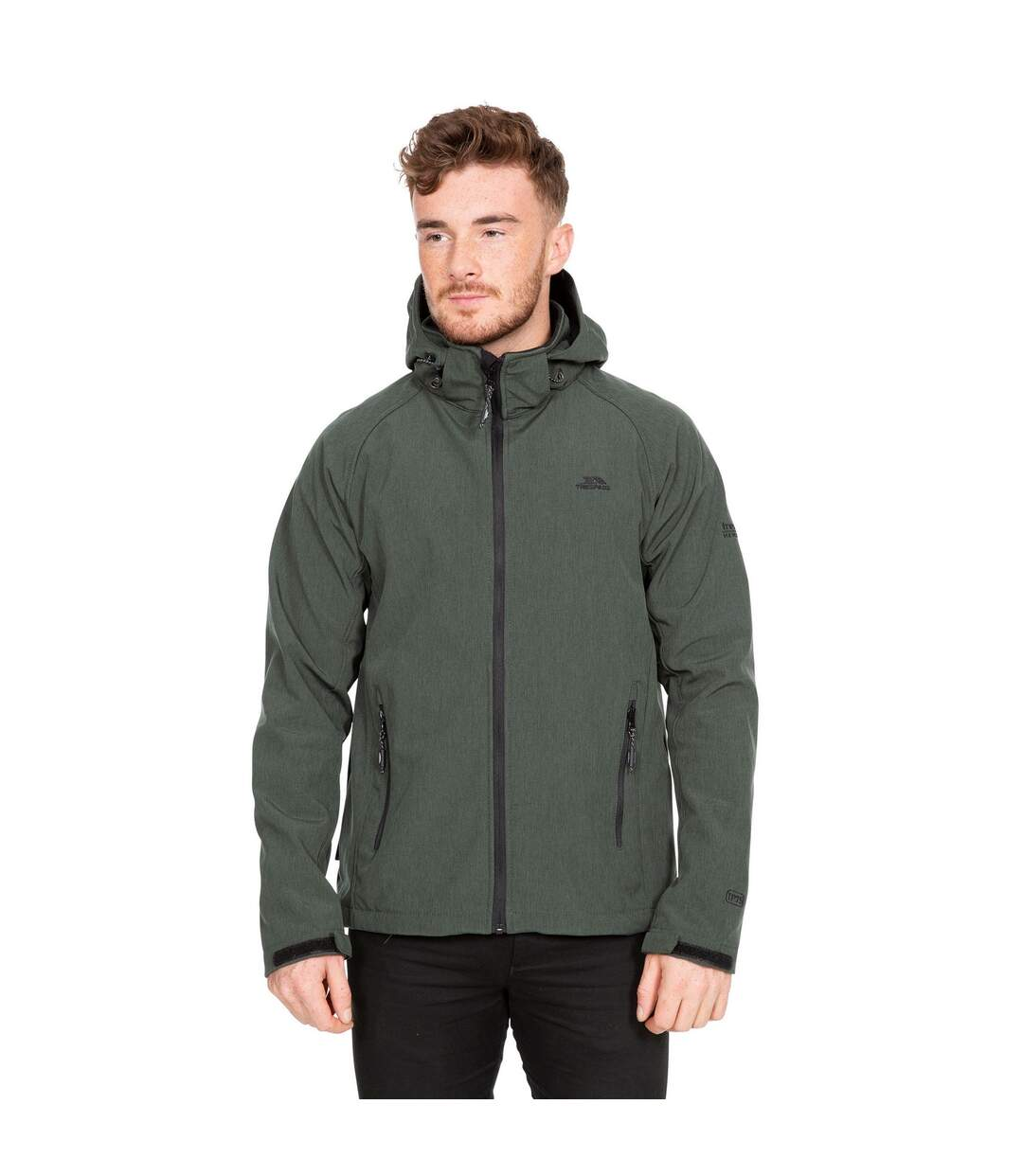 Trespass Mens Rafi Waterproof Softshell Jacket (Olive Marl) - UTTP3572