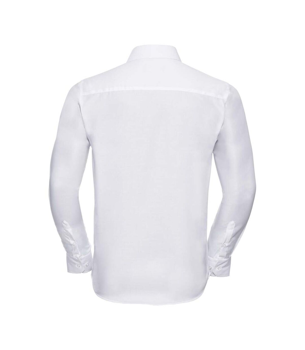 Russell Collection Mens Long Sleeve Tailored Ultimate Non-Iron Shirt (White) - UTBC1038