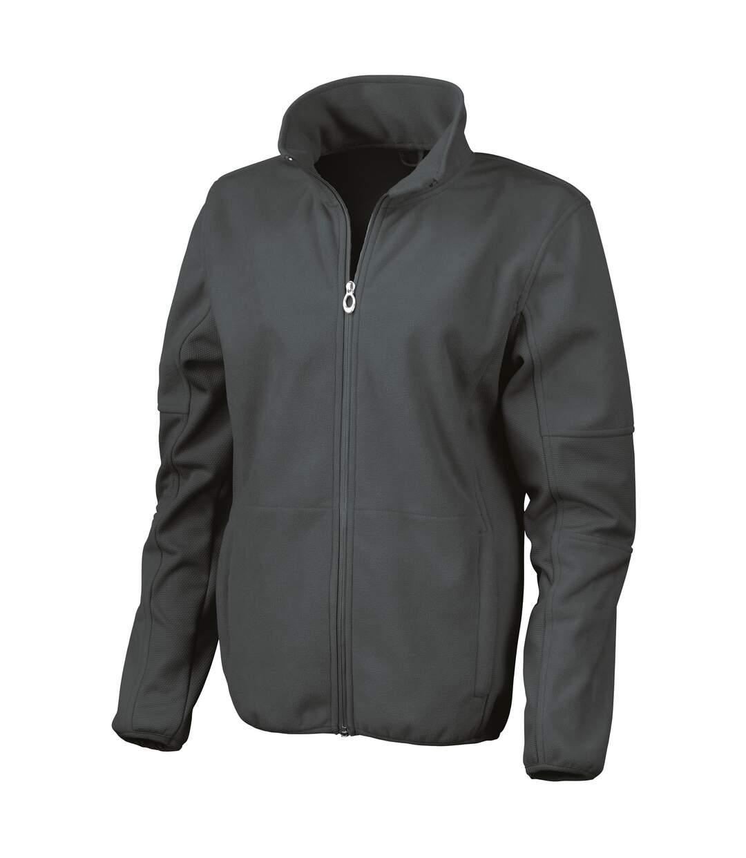 Result Womens/Ladies La Femme® Osaka Combed Pile Softshell Jacket (Waterproof, Windproof And Breathable) (Black) - UTRW3214