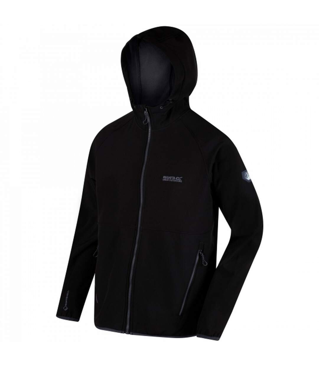 Regatta Mens Arec II Hooded Jacket (Black/Seal Grey) - UTRG3464
