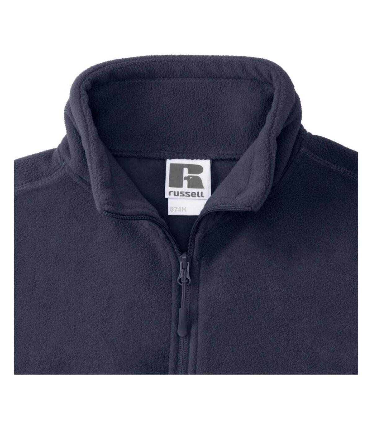 Russell Mens 1/4 Zip Outdoor Fleece Top (French Navy) - UTBC1438
