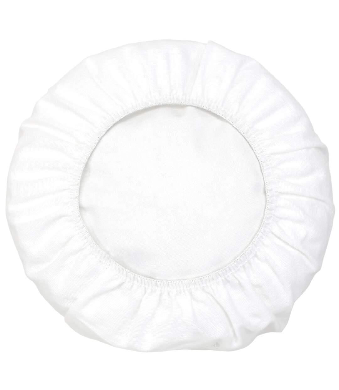 Housse de protection de traversin imperméable 80 cm ARNON molleton 100% coton contrecollé polyuréthane