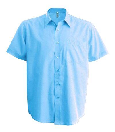 Chemise popeline manches courtes - K551- bleu ciel - homme
