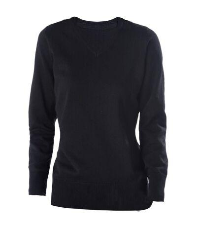 Kariban Womens V-Neck Long Sleeve Jumper / Knitwear (Black) - UTRW2715