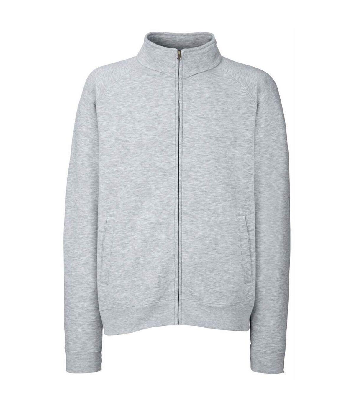 Fruit Of The Loom Mens Sweatshirt Jacket (Black) - UTBC1375