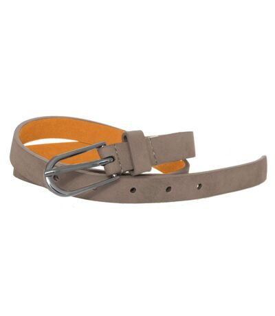 Forest Womens/Ladies Simple Leather Belt (Grey) - UTBL175