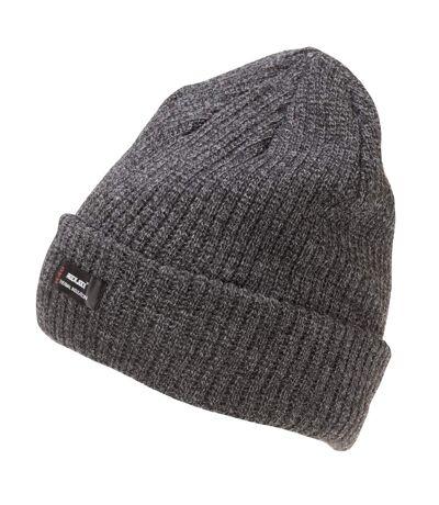 Rock Jock Bonnet en tricot épais à isolation thermique pour hommes (Gris) - UTHA642