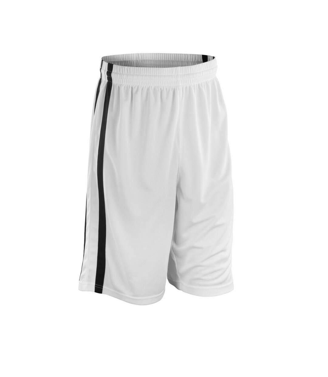 Spiro Mens Quick Dry Basketball Shorts (Red/White) - UTRW4779