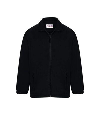 Absolute Apparel Heritage Full Zip Fleece (Black) - UTAB128