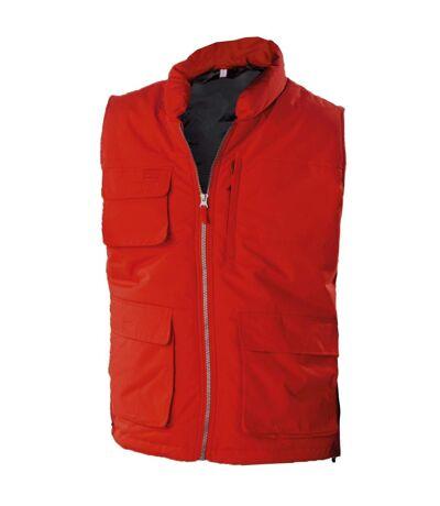 Kariban Mens Quilted Full Zip Bodywarmer/Gilet (Red) - UTRW4211