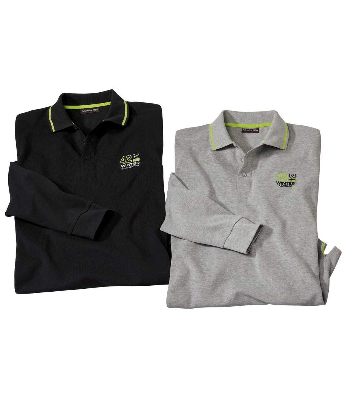 Zestaw 2 sportowo-eleganckich koszulek polo z dzianiny pika Atlas For Men