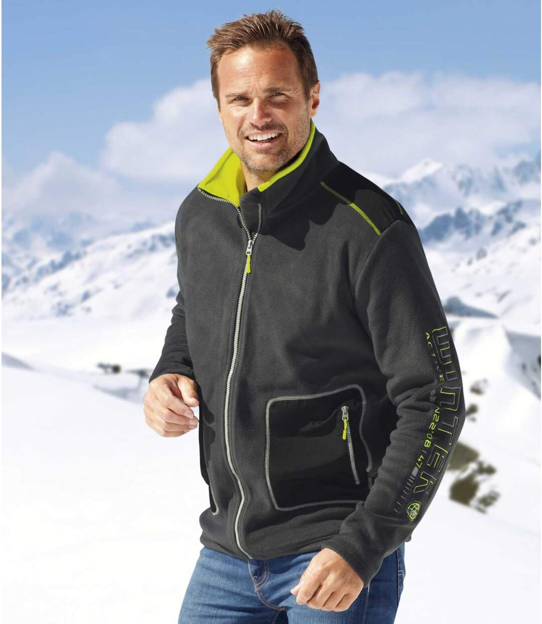 Men's Dark Grey Mountain Fleece Jacket