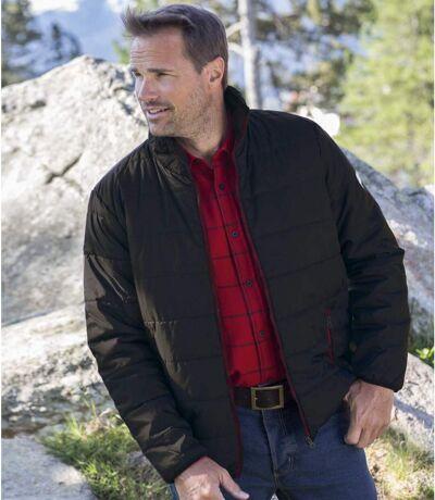 Men's Lightweight Quilted Puffer Jacket - Water Repellent - Black