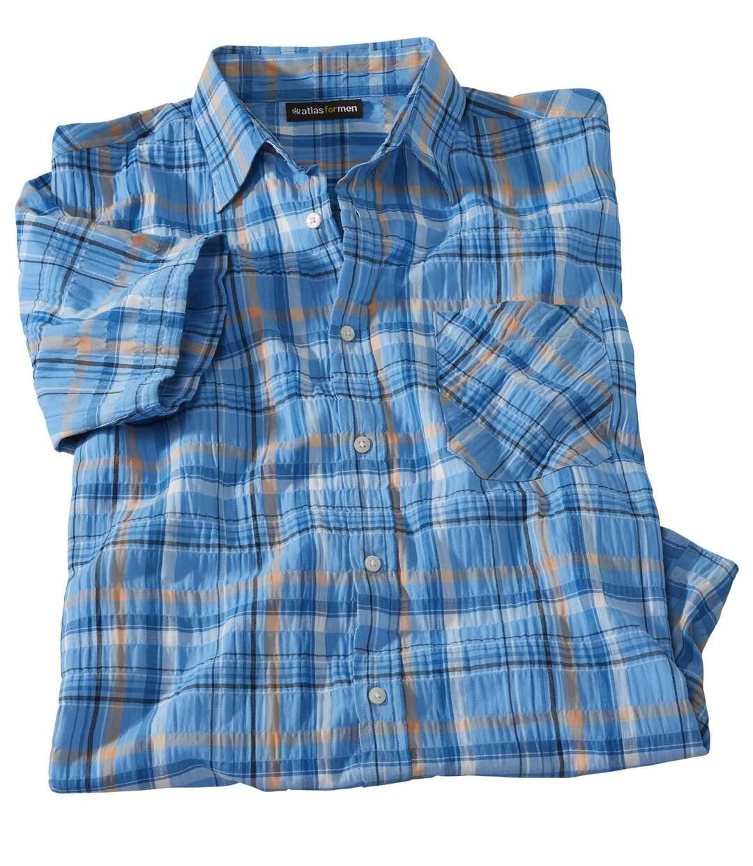 Koszula w kratę z gofrowanej bawełny Pacific