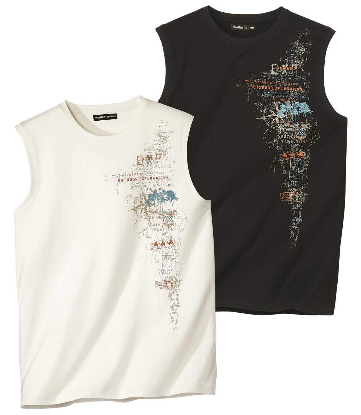 Lot de 2 Tee-Shirts Sans Manches  Atlas For Men