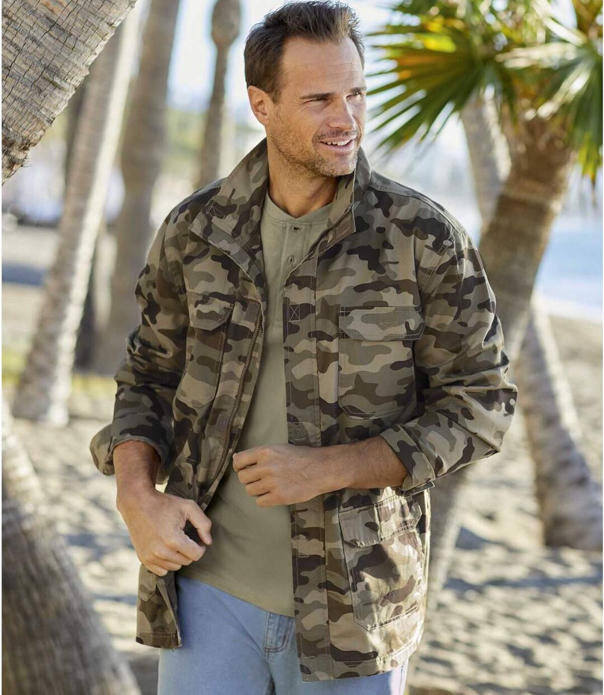 Camouflage safari-jas van katoen Atlas For Men